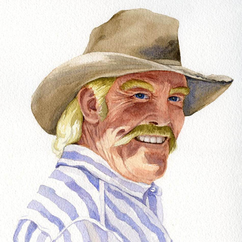 Original watercolor portrait